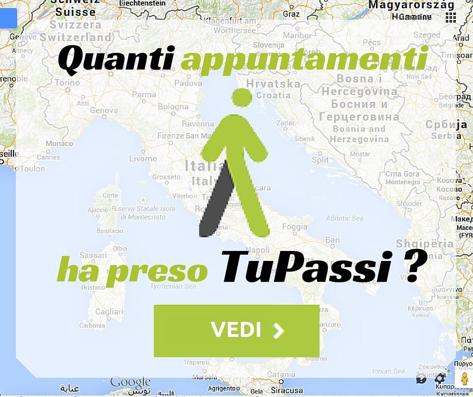 QUANTI APPUNTAMENTI HA PRESO TuPassi?
